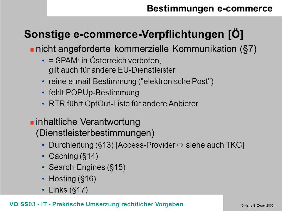 Sonstige e-commerce-Verpflichtungen [Ö]